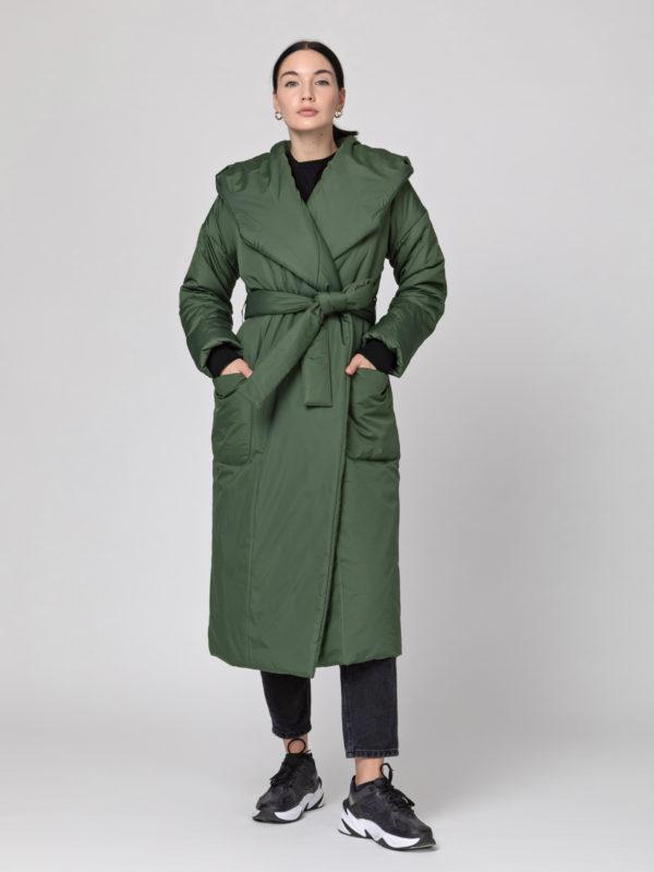 Пуховик-одеяло c капюшоном Riffle Green