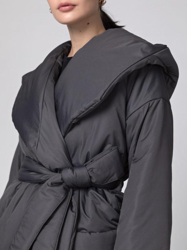 Пуховик-одеяло с капюшоном Asphalt