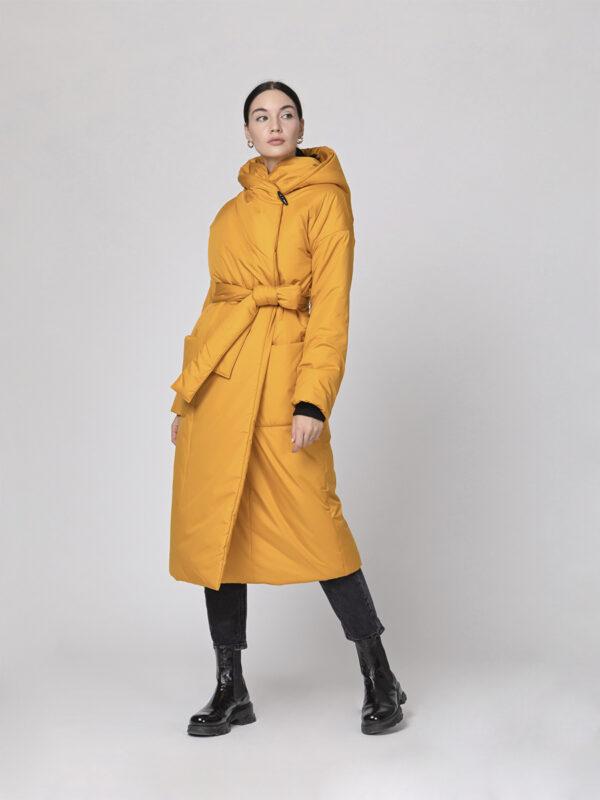 Пуховик-одеяло c капюшоном Golden Yellow