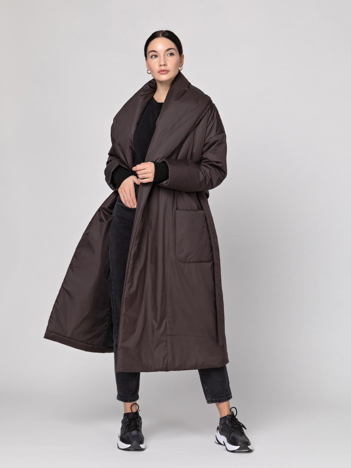 Пуховик-одеяло с шалевым воротником Chocolate PHM0125