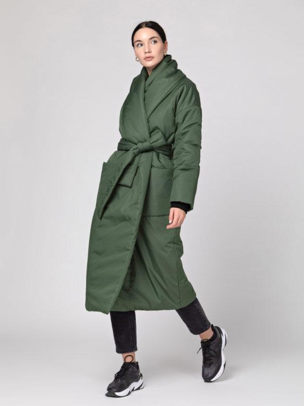 Пуховик-одеяло с шалевым воротником Riffle Green PHM0117
