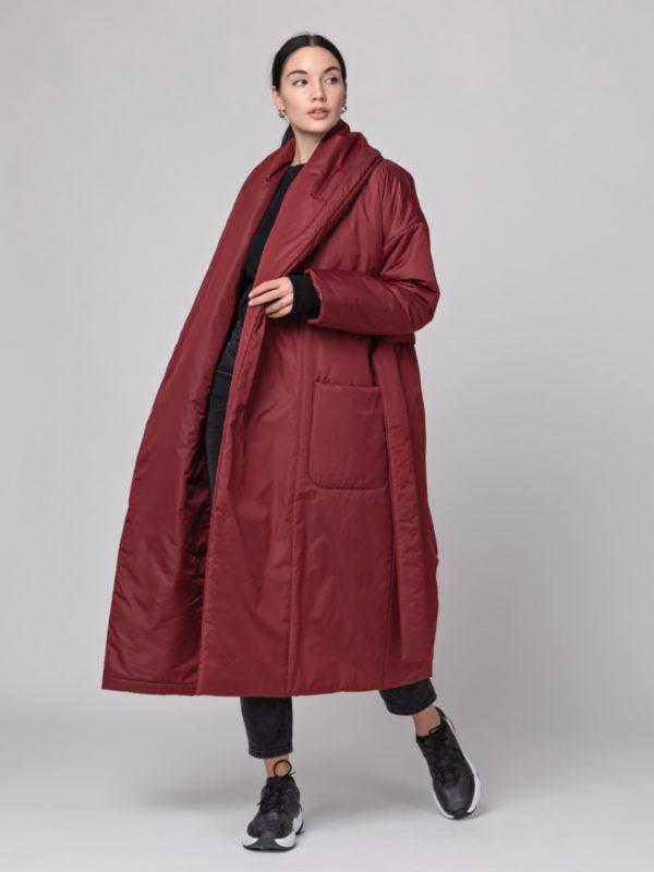Пуховик-одеяло с шалевым воротником Bordo