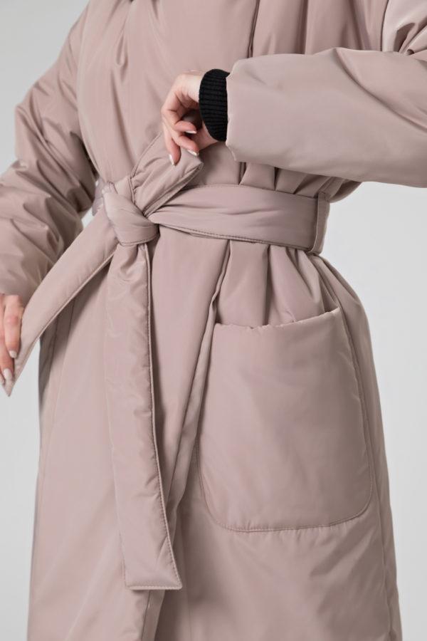 Пуховик-одеяло с английским воротником Beige PHM0521