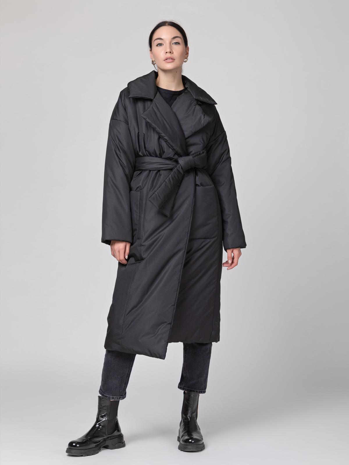 Пуховик-одеяло с английским воротником Black