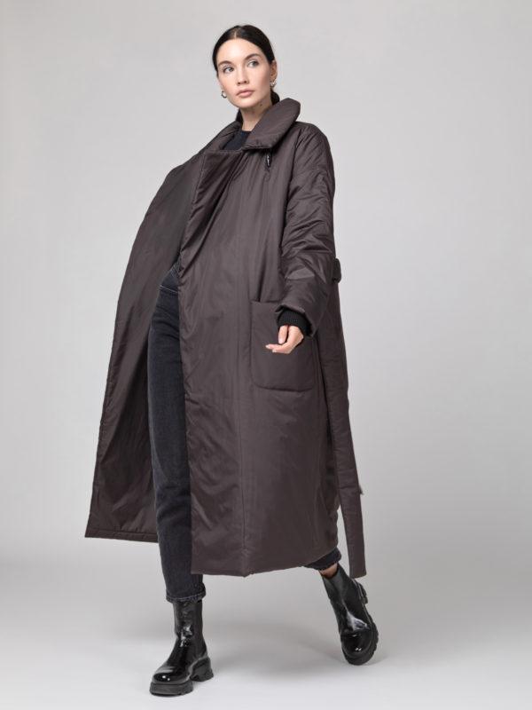 Пуховик-одеяло с английским воротником Chocolat PHM0525