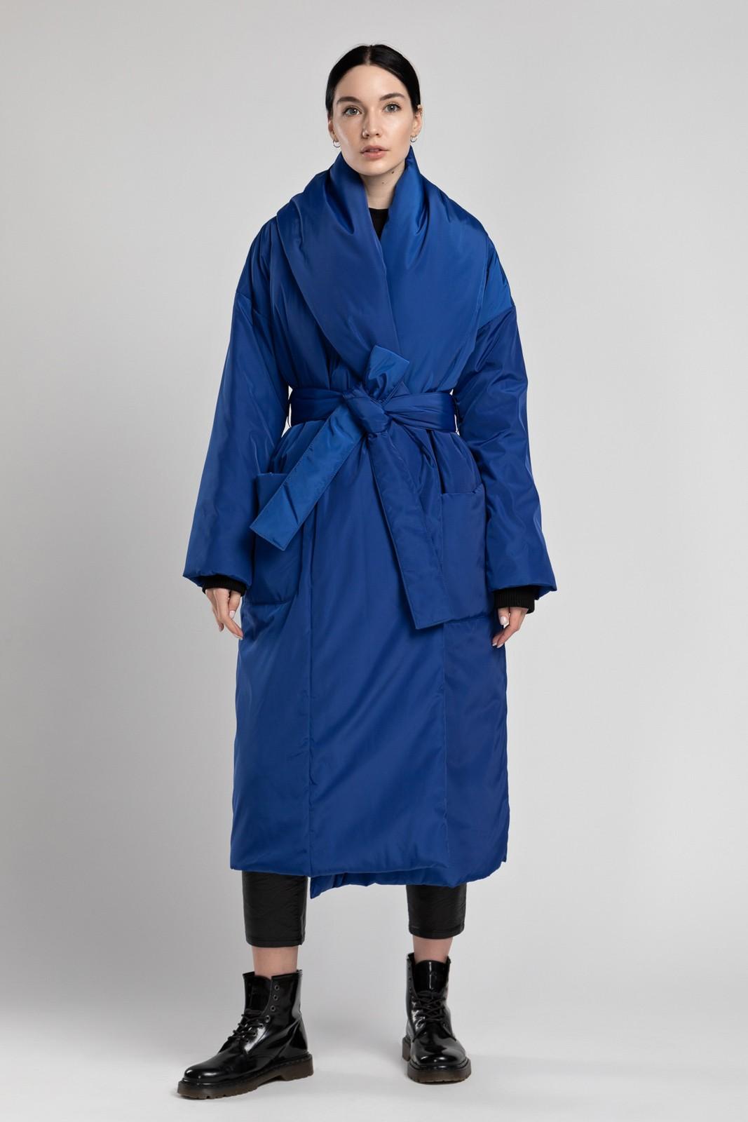Пуховик-одеяло с шалевым воротником Azure PHM0120