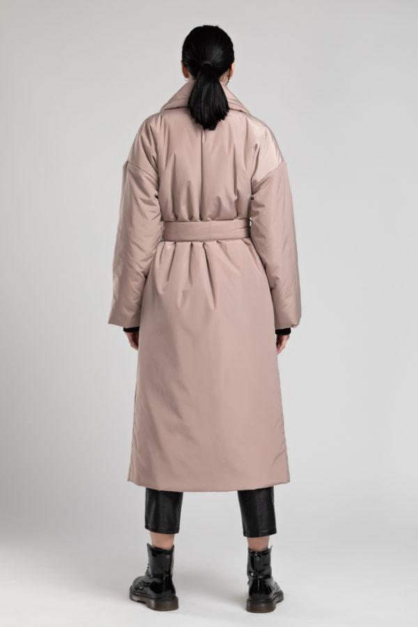 Пуховик-одеяло с английским воротником Beige