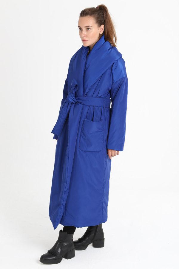 Пуховик-одеяло с шалевым воротником Azure