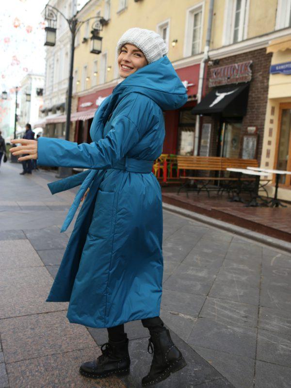 Пуховик-одеяло c капюшоном Lyons Blue