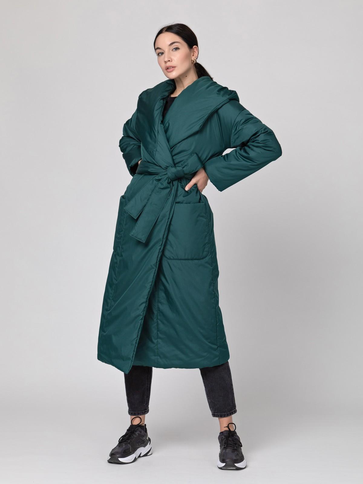 Пуховик-одеяло c капюшоном Emerald PHM0233