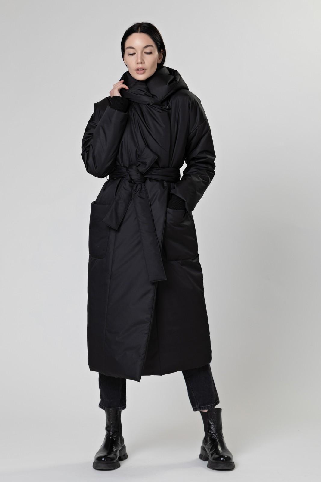 Пуховик-одеяло c капюшоном Black