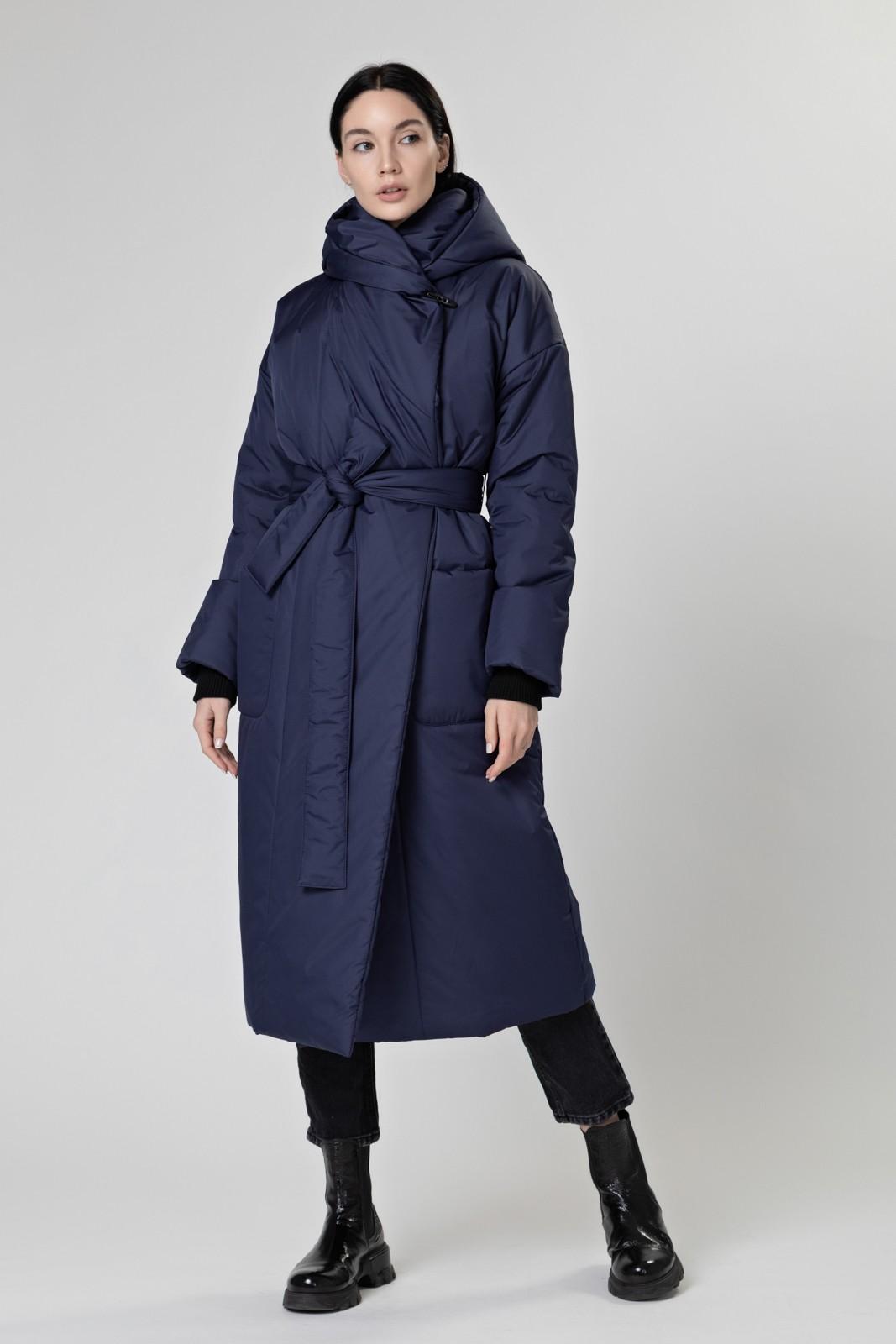 Пуховик-одеяло c капюшоном Dark Blue