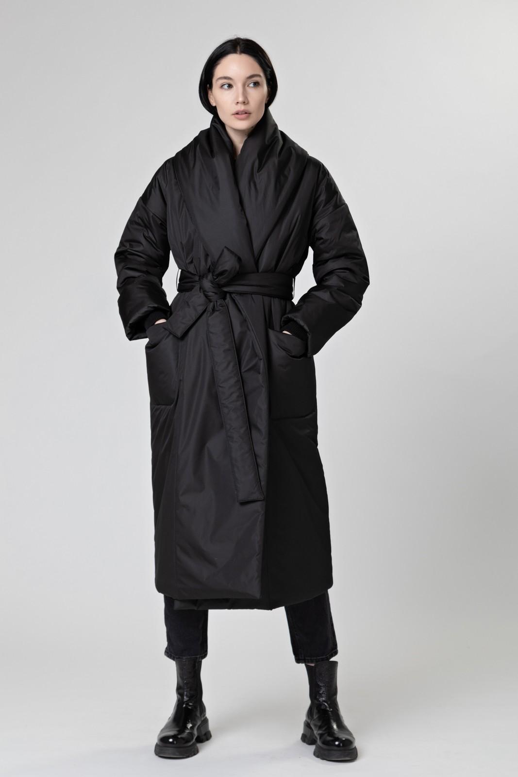 Пуховик-одеяло с шалевым воротником Black