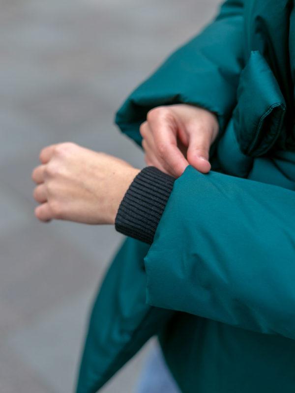 Пуховик с шалевым воротником короткий Emerald