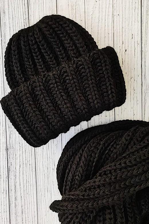 Шапка вязанная BLACK