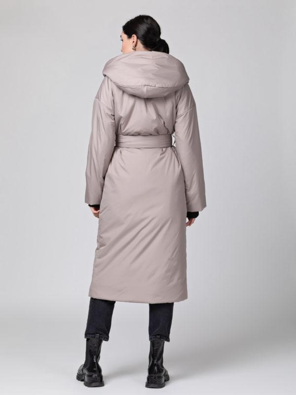 Пуховик-одеяло c капюшоном Beige