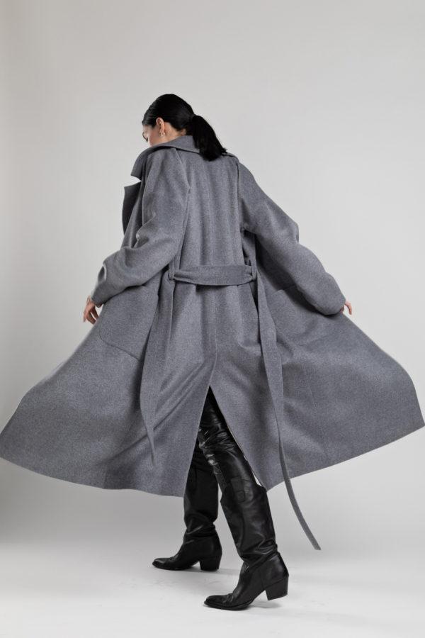 Пальто-халат Grey P0101