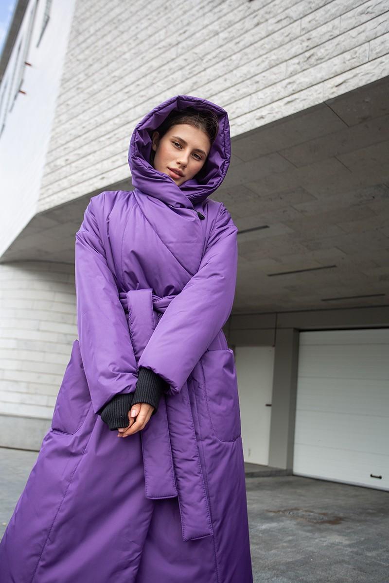 Пуховик-одеяло c капюшоном Dark Lilac