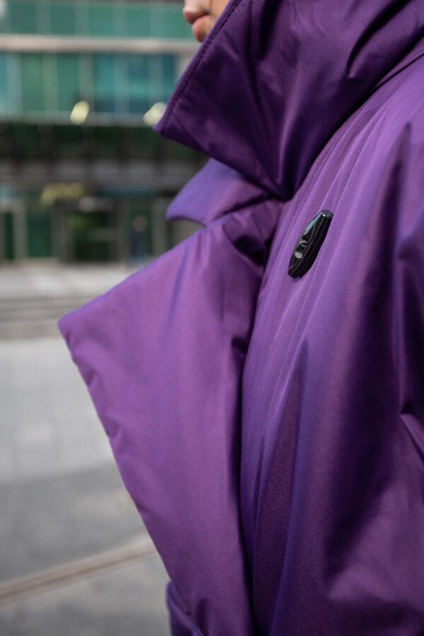 Пуховик-одеяло с английским воротником Dark Lilac PHM0553