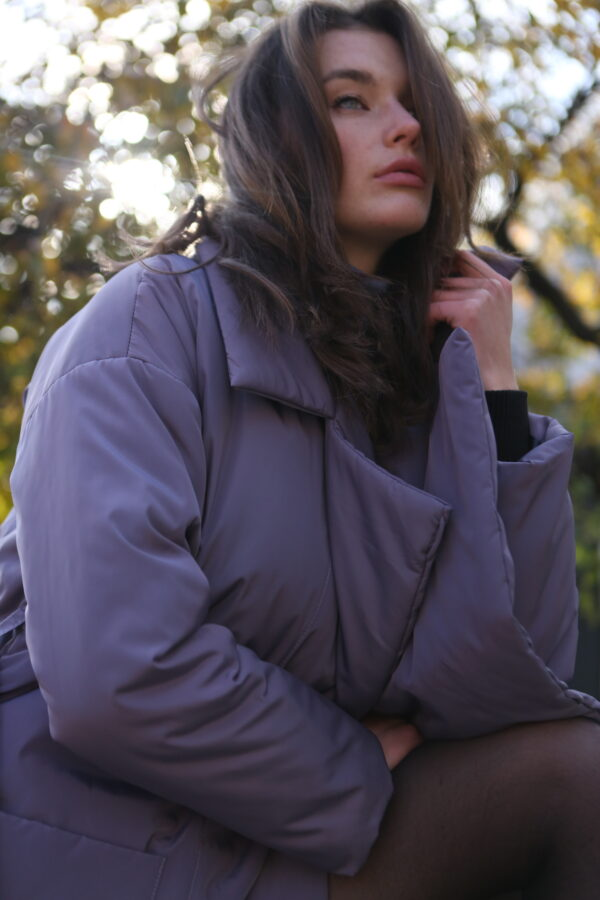 Пуховик-одеяло с английским воротником Lavend PHM0534