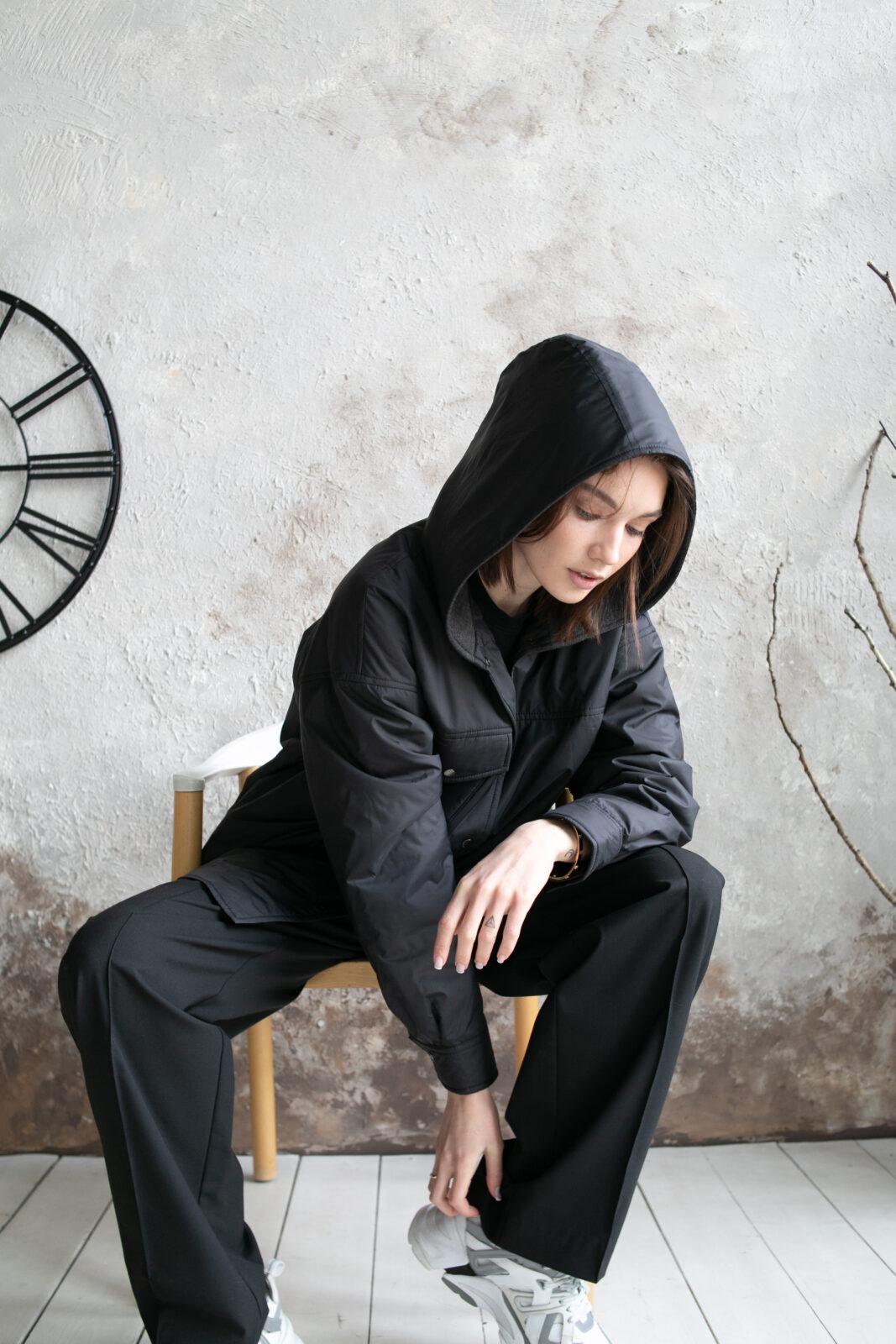 Куртка-рубашка с капюшоном Black