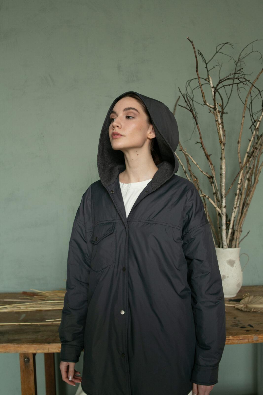 Куртка-рубашка с капюшоном Asphalt
