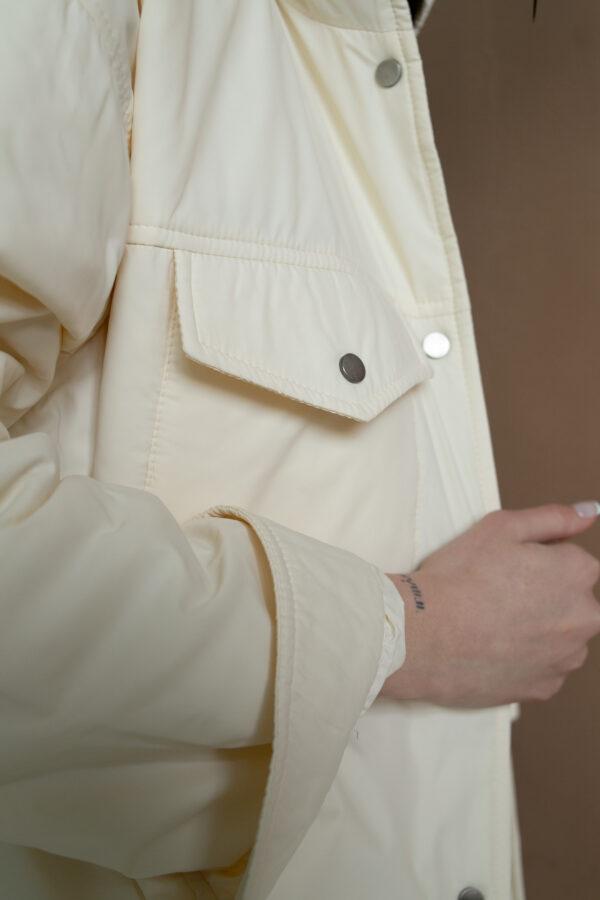 Куртка-рубашка с капюшоном Cream