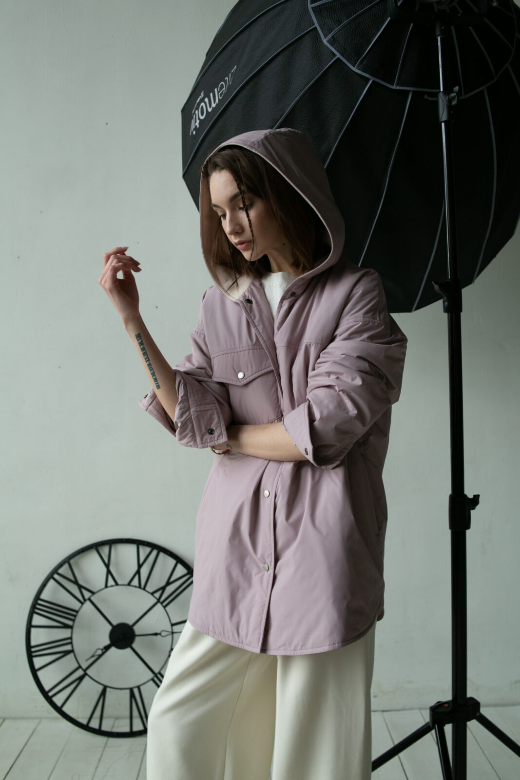 Куртка-рубашка с капюшоном Smoky powdery